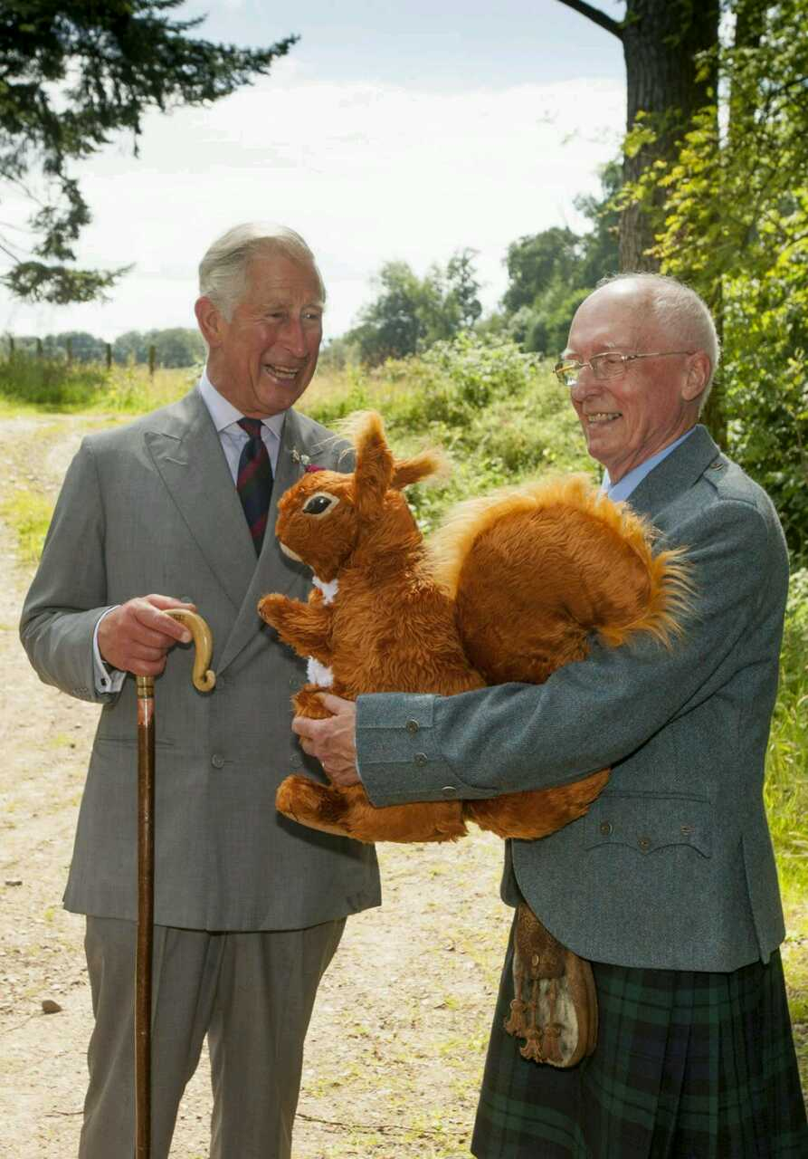 Me, Prince Charles and a giant red squirrel