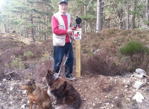 Erecting Capercaillie Signs
